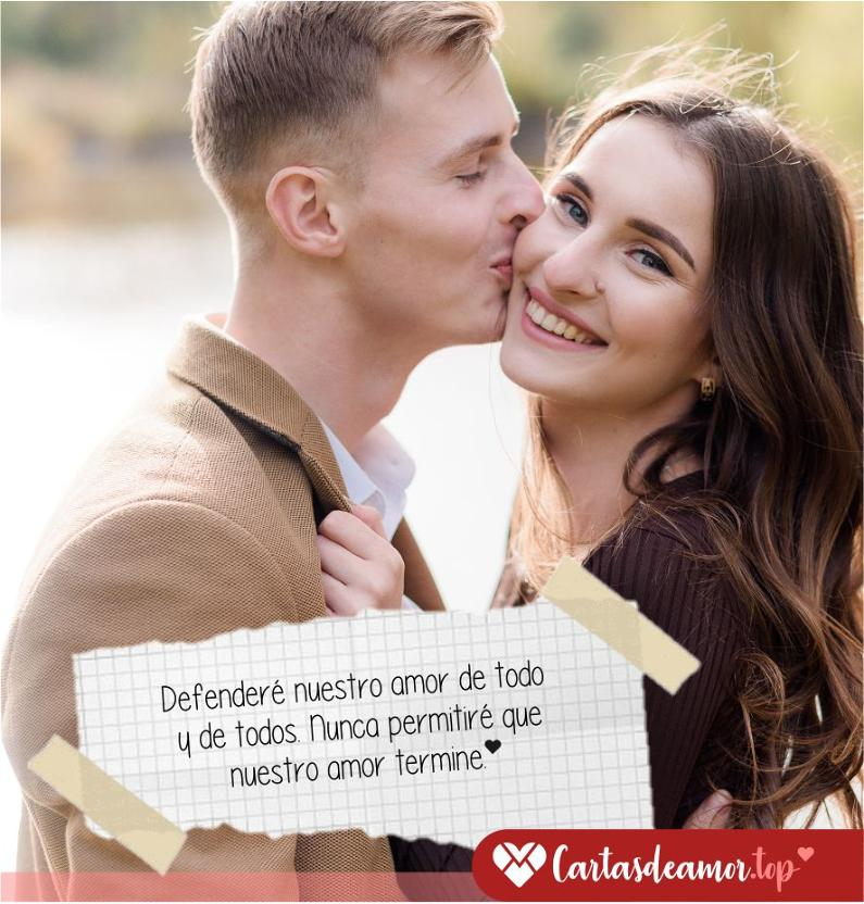 Palabras de amor románticas para mi novia